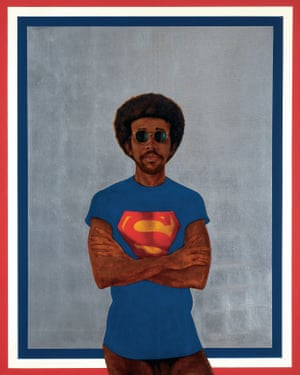 Icon for My Man Superman (Superman Never Saved any Black People – Bobby Seale), 1969 by Barkley Hendricks.