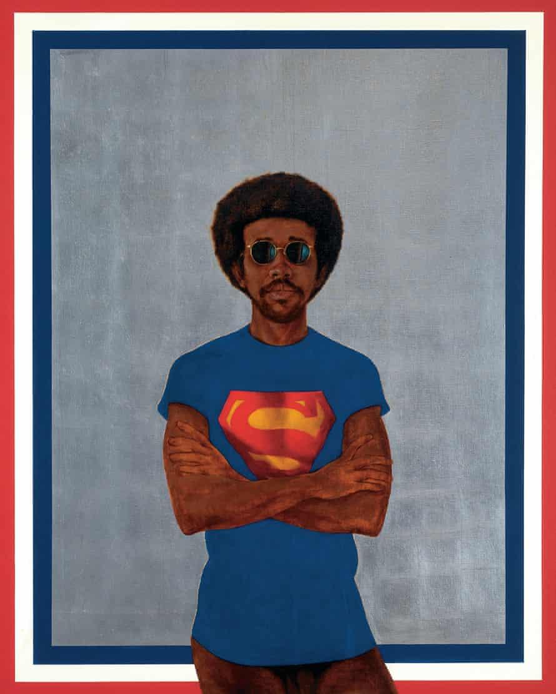 Icon for My Man Superman (Superman Never Saved any Black People – Bobby Seale), 1969 by Barkley Hendricks.