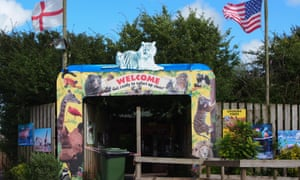 The entrance to the South Lakes Safari zoo in Cumbria.