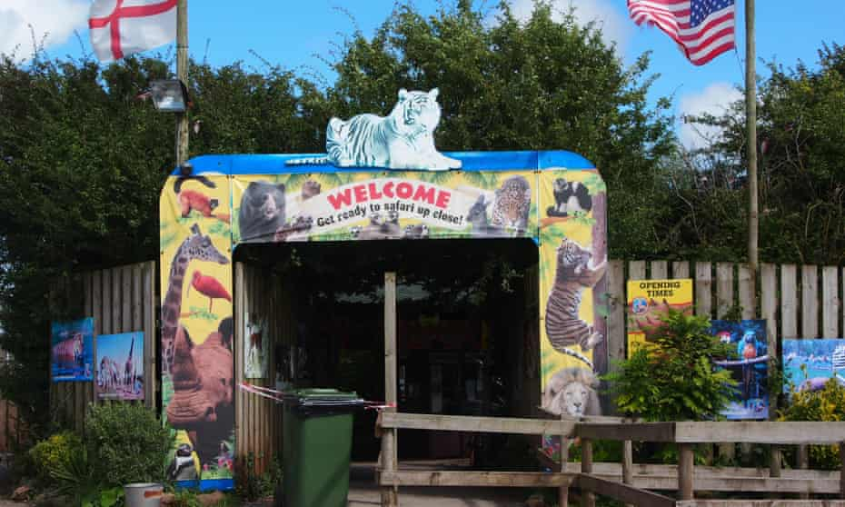 The entrance to South Lakes Safari Zoo in Cumbria, England