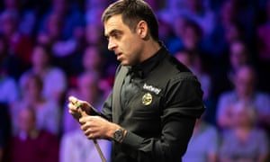 Ronnie O'Sullivan en route to a 6-0 defeat of Zhou Yuelong on day seven of the UK Championship at York Barbican.