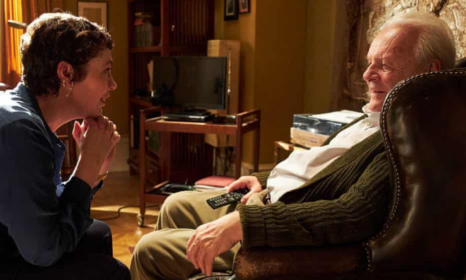 Are you after my flat? … Hopkins and Colman in Zeller's directing debut.