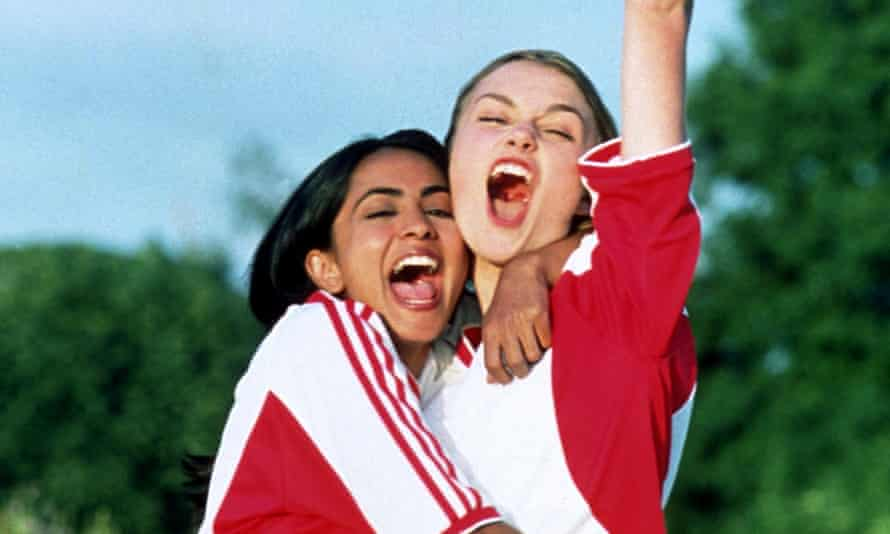 Parminder Nagra and Keira Knightley in Bend It Like Beckham.