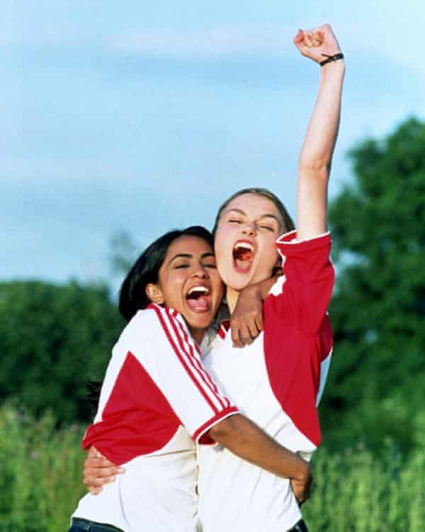 Nagra and Keira Knightley in Bend It Like Beckham.