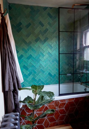 Tile style: the bathroom was completed in just 10 days, at the same time as the kitchen.