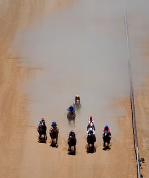 Horses come down the home straight