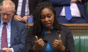 Dawn Butler signing in the House of Commons.