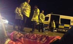 Activists are blockading Stansted's runway to stop deportation flight.