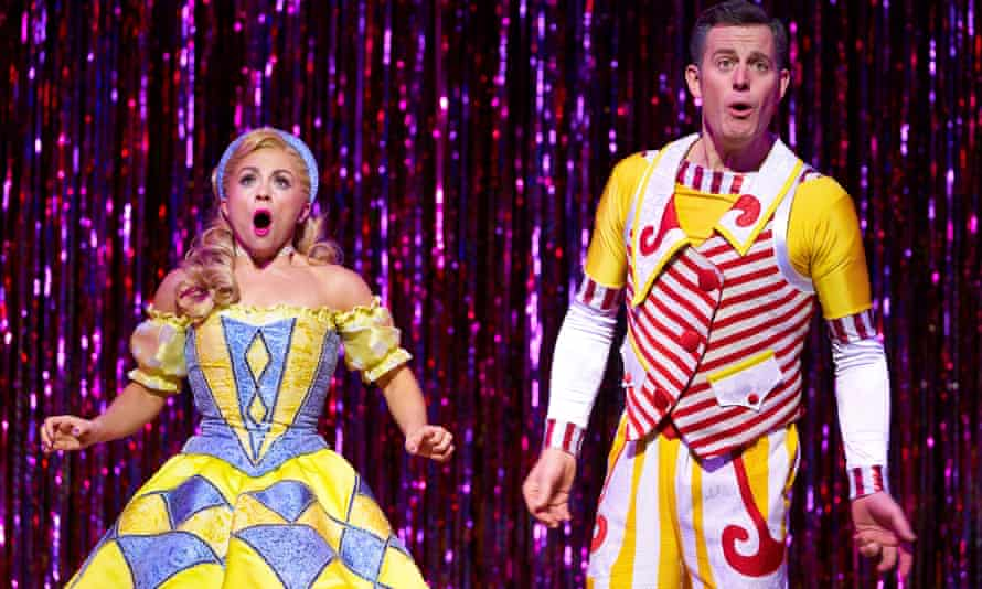 More like a string of turns … Sophie Isaacs (Goldilocks) and Matt Baker (Joey the Clown) in Goldilocks and the Three Bears
