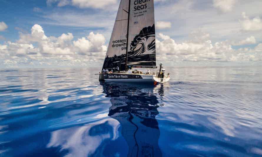 A yacht during leg 4 of a Melbourne to Hong Kong ocean race