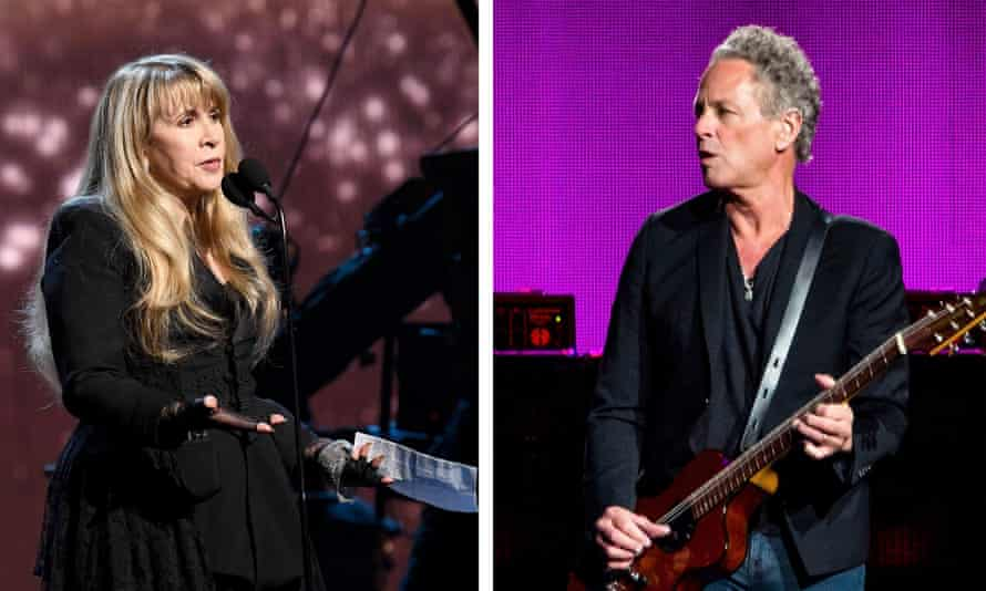 Going their own way … Stevie Nicks and Lindsey Buckingham.