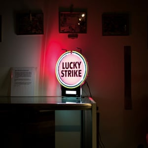 A Lucky Strike advertising sign in South Hill, Virginia