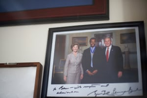 And a photograph of the occasion signed by George W Bush