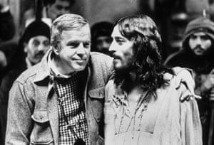 Zeffirelli on set with Robert Powell