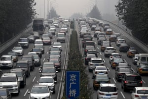 A city ring road in Beijing.
