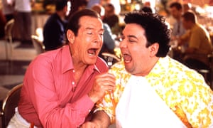 Roger Moore and Horatio Sanz in Boat Trip, 2002