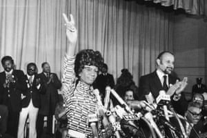 Shirley Chisholm of Brooklyn announces her entry for Democratic nomination for the presidency.