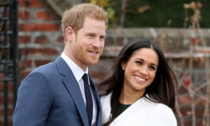 Prince Harry and Meghan Markle during an official photocall to announce their engagement.