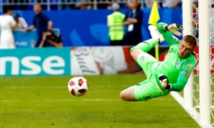 Jordan Pickford's trio of brilliant saves in the second half against Sweden secured England's first clean sheet of the World Cup finals tournament in Russia.