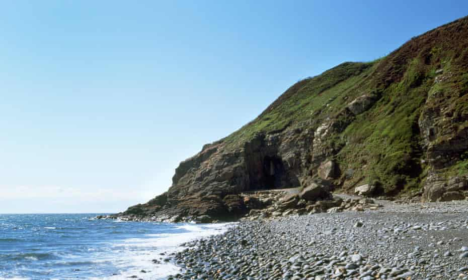 Holy appropriate …St Ninian's Cave, where the fifth-century saint may have lived.