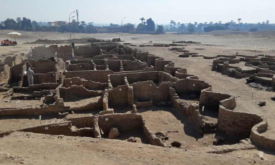 A picture released by the Egyptian Ministry of Antiquities shows the remains city dating to the reign of Amenhotep III