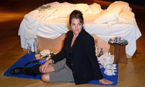 Emin with her work My Bed, which sold for £2.5m in 2014