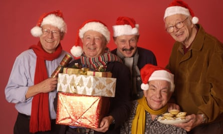 Radio 4's 'I'm Sorry I Haven't A Clue' team in 2005. From left to right:: Graeme Garden, Tim Brooke-Taylor, pianist Colin Sell, Barry Cryer and Humphrey Lyttelton.