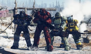 powered armour suits in Fallout 76.