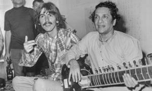 George Harrison with Ravi Shankar in 1967.