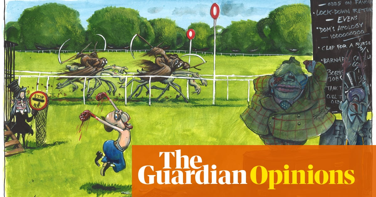 Martin Rowson on the return of horse racing and parliament -- cartoon