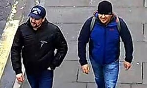 The two Russian agents, Alexander Petrov and Ruslan Boshirov, identified as the likely culprits