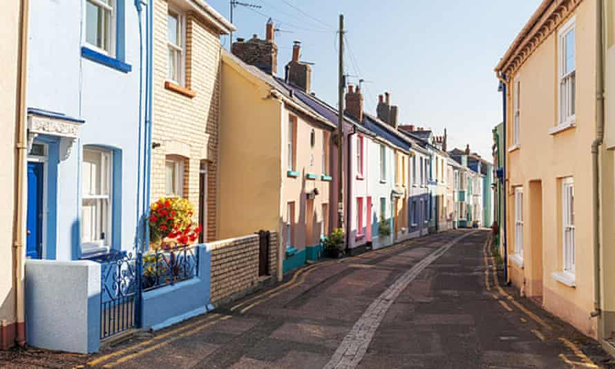 A row of houses in Devon