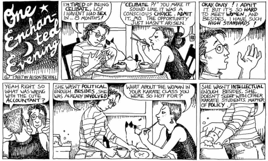 An excerpt from Bechdel's long-running series, Dykes to Watch Out For.