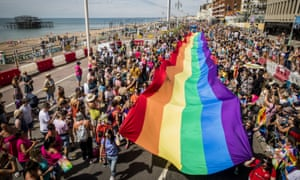 The festival is celebrating the 40th anniversary of the rainbow flag, originally devised by the San Francisco artist Gilbert Baker