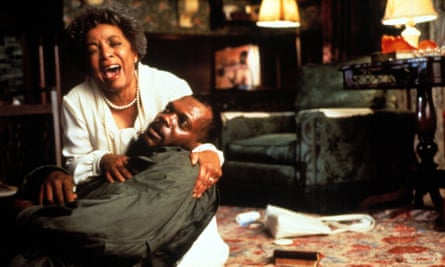 With Ruby Dee in Jungle Fever, 1991.