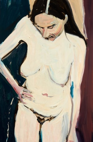 Chantal Joffe's Self-Portrait with Hand on Hip (2016).