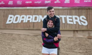 Festivalgoers Charlie Dunne and Sarah Willington in Newquay after the news that Boardmasters has been cancelled.