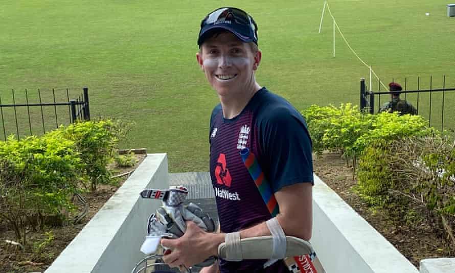 Zak Crawley in Hambantota, where England prepared for the series against Sri Lanka last month