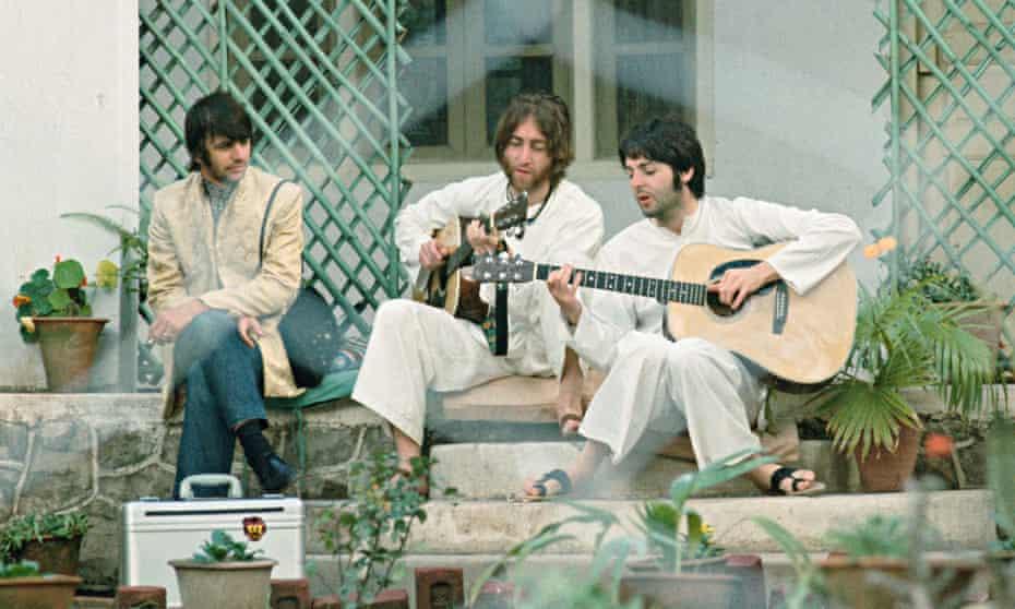 Paul, John and Ringo having a jam.