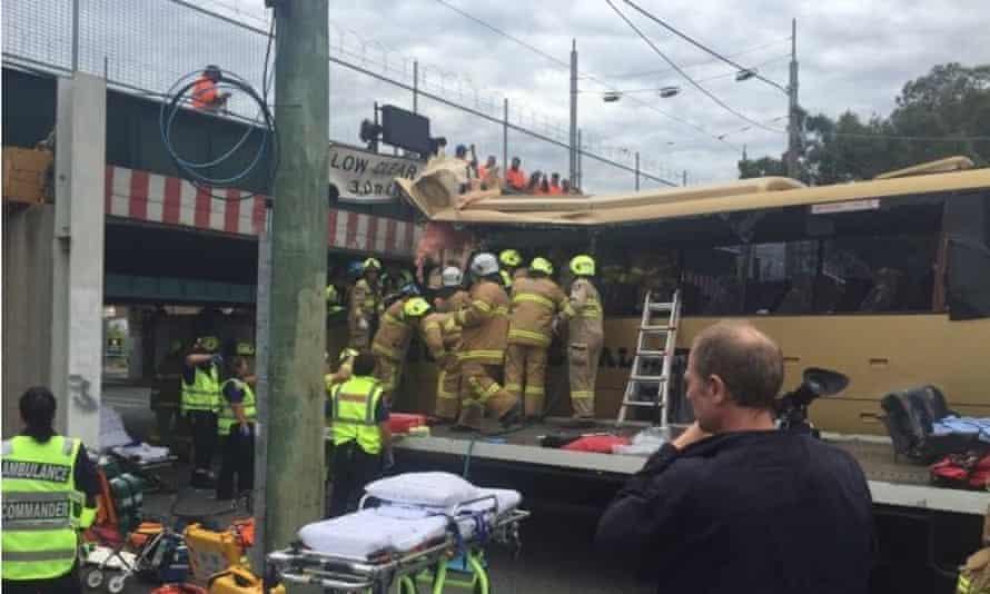 Melbourne bus crash