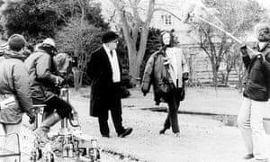 Alec Guinness and Siân Phillips filming the 1979 BBC adaptation of Tinker, Tailor, Soldier, Spy