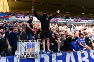 Rangers fans at Ibrox.