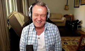 Jimmy Barnes chats over Zoom at Guardian Australia's monthly book club on Friday.