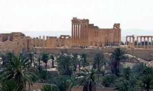 Roman city Palmyra Syria