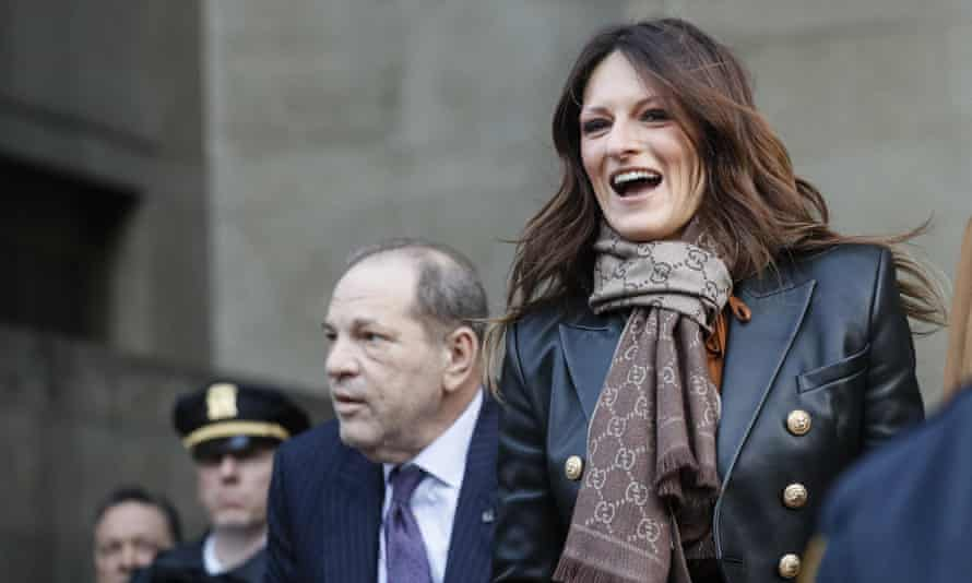 Harvey Weinstein and Donna Rotunno leave a Manhattan courthouse on 19 February.