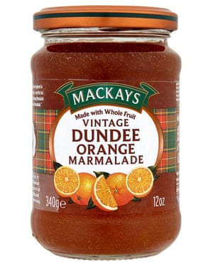 Mackays Vintage Dundee orange marmalade.