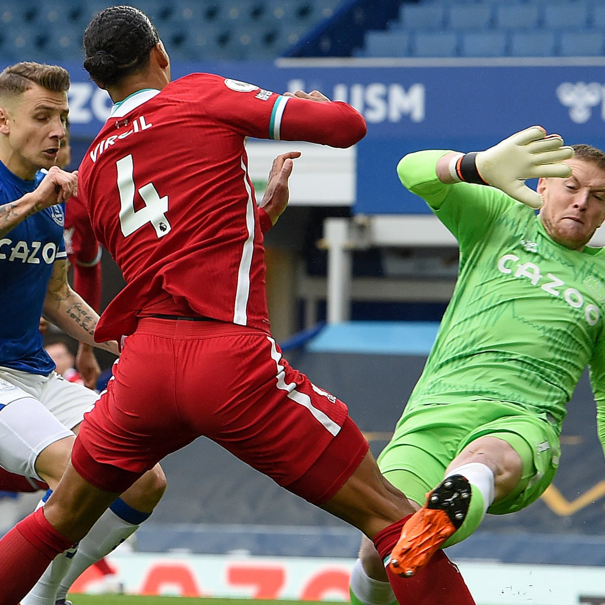 Liverpool's Virgil van Dijk facing surgery and long absence with cruciate  injury | Football | The Guardian