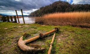 Anchor at Cotehele, Saltash, Cornwall, England