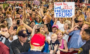 A Republican presidential rally in Mobile Alabama.