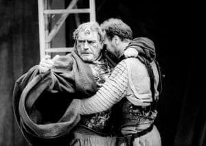 Brian Cox as Titus Andronicus and Derek Hutchinson as Lucius